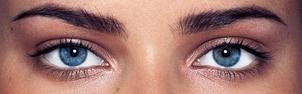 синие глаза фото