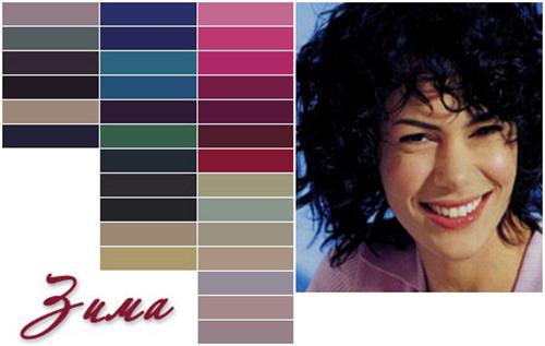 какие цвета подходят цветотипу зима